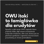OWU biura podróży Itaka to łamigłówka dla erudytów