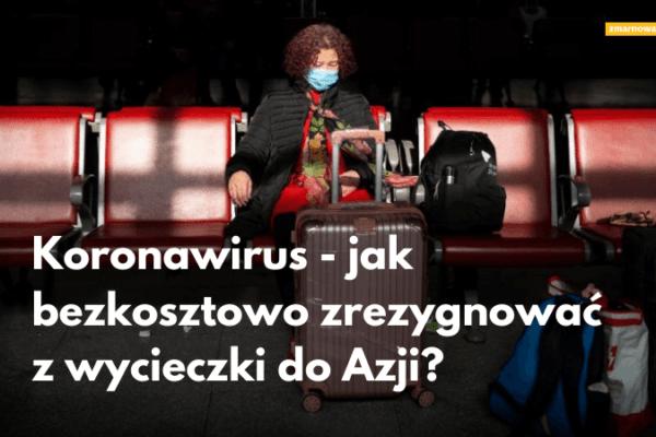 kobieta w maseczce chirurgicznej czekająca na samolot ilustracja wpisu blogowego na temat możliwości odstąpienia od umowy z biurem podróży z powodu epidemii koronawirusa w chińskim mieście wuhan
