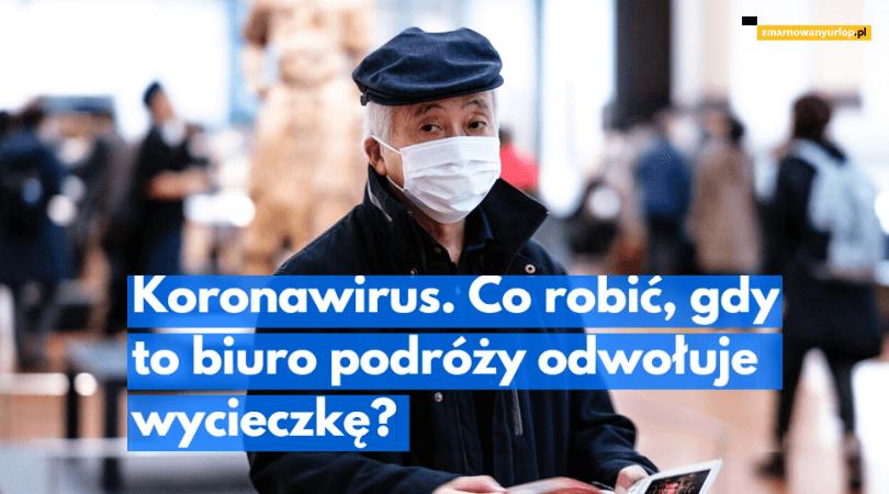 mężczyzna w maseczce chirurgicznej na lotnisku ilustracja wpisu blogowego na temat możliwości rozwiązania przez biuro podróży umowy z powodu nadzwyczajnych i nieuniknionych okoliczności związanych z epidemią koronawirusa chinach i całej azji południowo-wschodniej