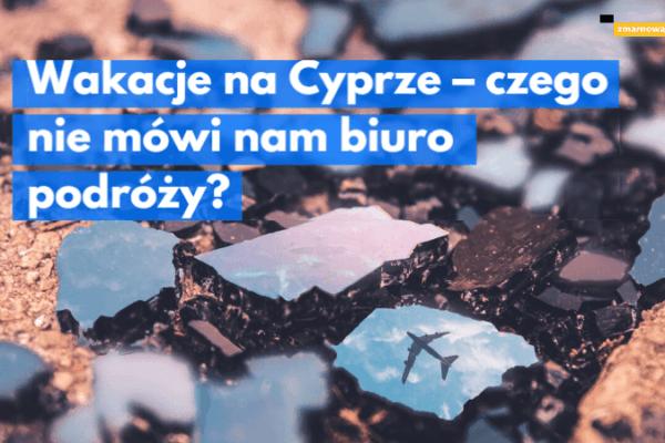 pokruszone odłamki szkła w jednym odbija się sylwetka samolotu ilustracja wpisu blogowego na temat prawa klientów biur podróży do dochodzenia rekompensaty za zmarnowany urlop z powodu eksplozji arsenału z bronią na Cyprze północnym